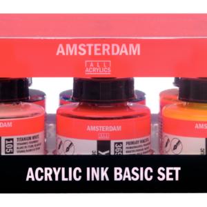 Amsterdam Ink Basic Set 6 x 30 ml