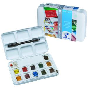 Van Gogh Akvarelsæt (12 half-pans + pensel og palette)