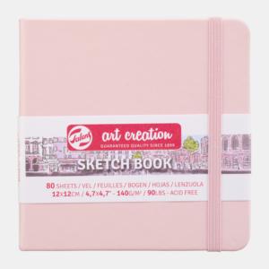 Art Creation Skitse Pink bog 12x12 cm - 140g