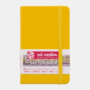 Art Creation Skitse Golden Yellow bog A6 - 140g