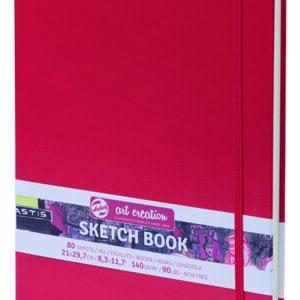Art Creation Skitse Rød bog A4 - 140g
