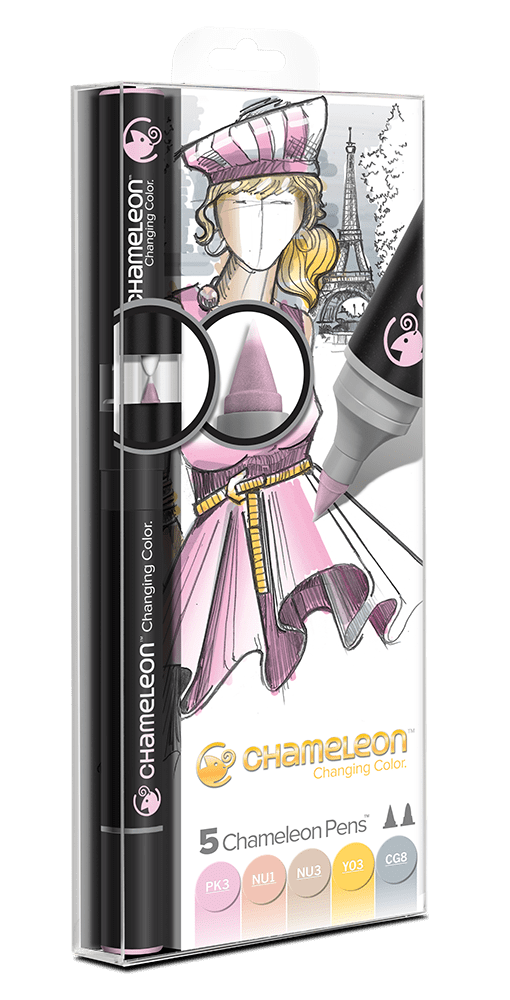 5 Pen Pastel Tones Set