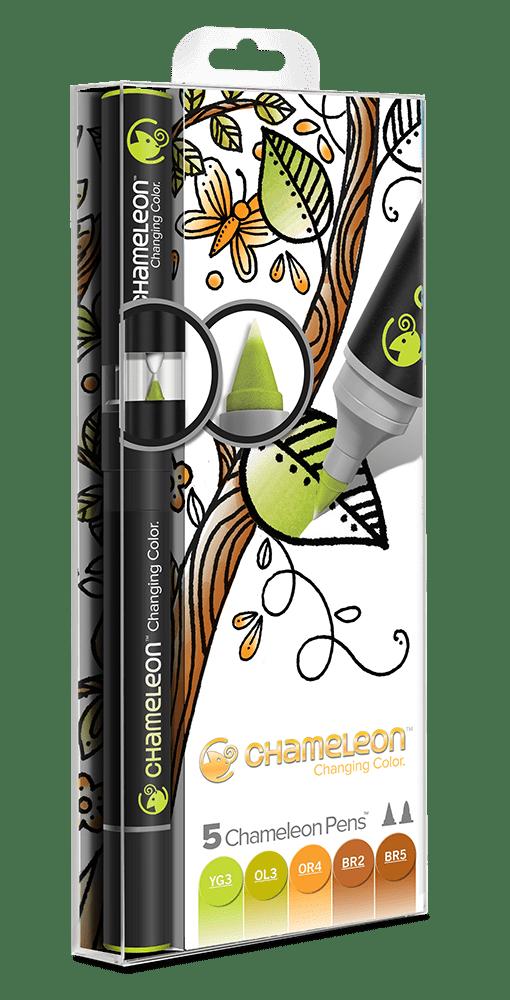5 Pen Earth Tones Set