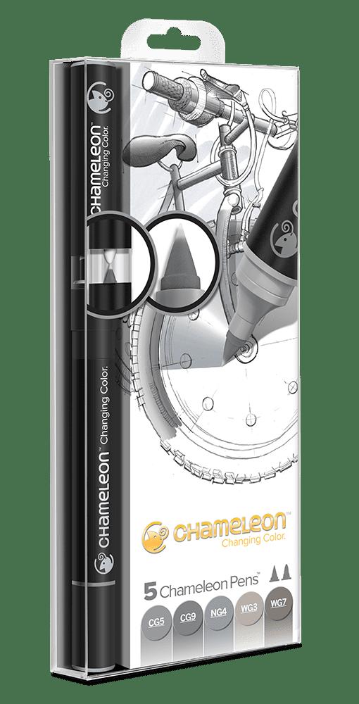 5 Pen Grey Tones Set