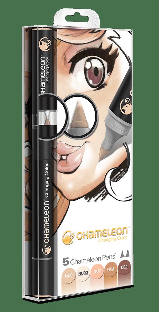 5 Pen Skin Tones Set