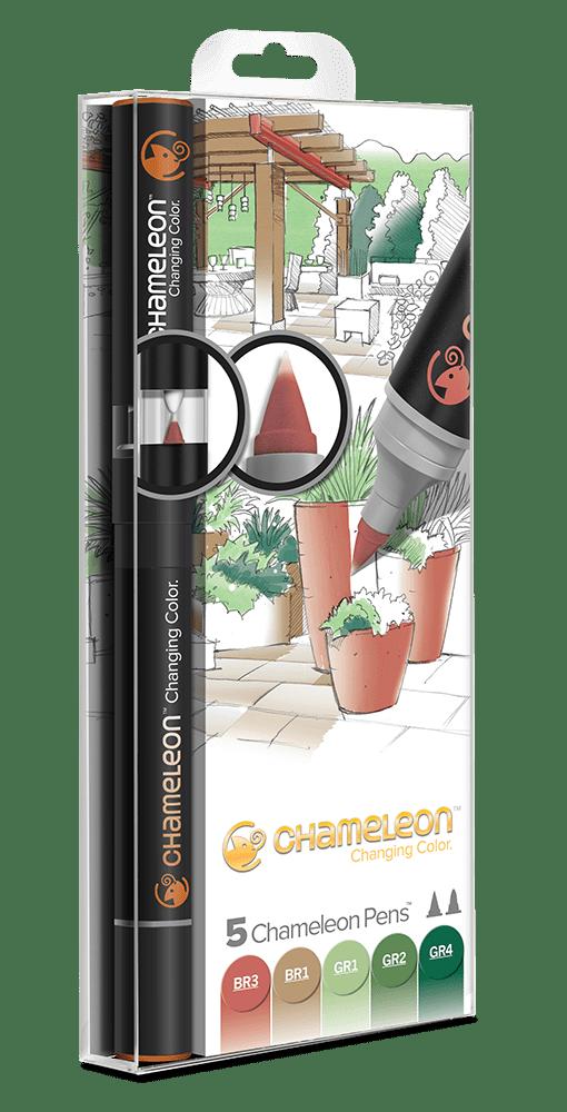 5 Pen Nature Tones Set