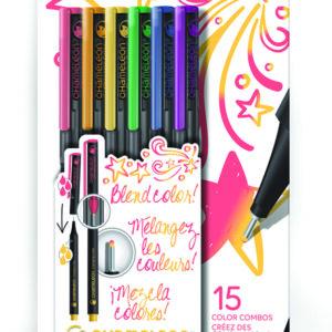 Fineliners 6 Pen Primary Colors Set