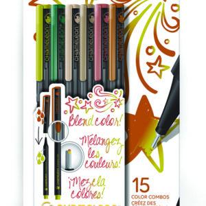 Fineliners 6 Pen Nature Colors Set
