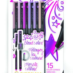 Fineliners 6 Pen Floral Colors Set