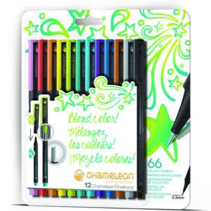Fineliners 12 Pen Bright Colors Set