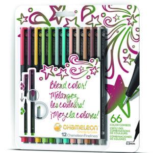 Fineliners 12 Pen Designer Colors Set