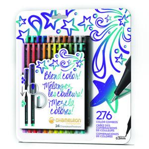 Fineliners 24 Pen Bold Colors Set