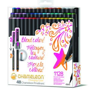Fineliners 48 Pen Brilliant Colors Set