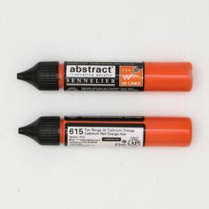 Sennelier Abstract Marker 3D liner 615 Cadmium Red Orange Hue 27ml
