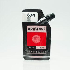 Sennelier Abstract Akrylfarve 674 Vermilion 120 ml