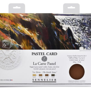 Sennelier Pastel Card pack - 6 sheets 40x30cm - Assorted Earth Tones