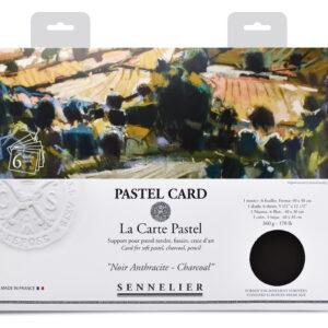 Sennelier Pastel Card pack- 6 sheets 40x30cm - Monochrome charcoal