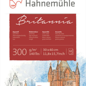 Hahnemühle Britannia Akvarelblok Grov 300g 30x40 cm