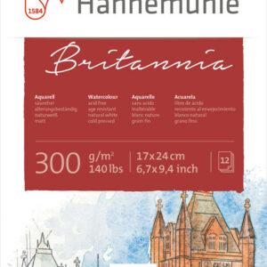 Hahnemühle Britannia Akvarelblok Mat 300g 17x24 cm