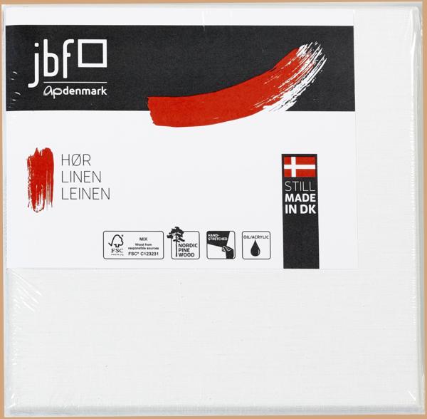 120 x 150 cm Blindramme galleri bred med Professionel Claessens Hør Lærred