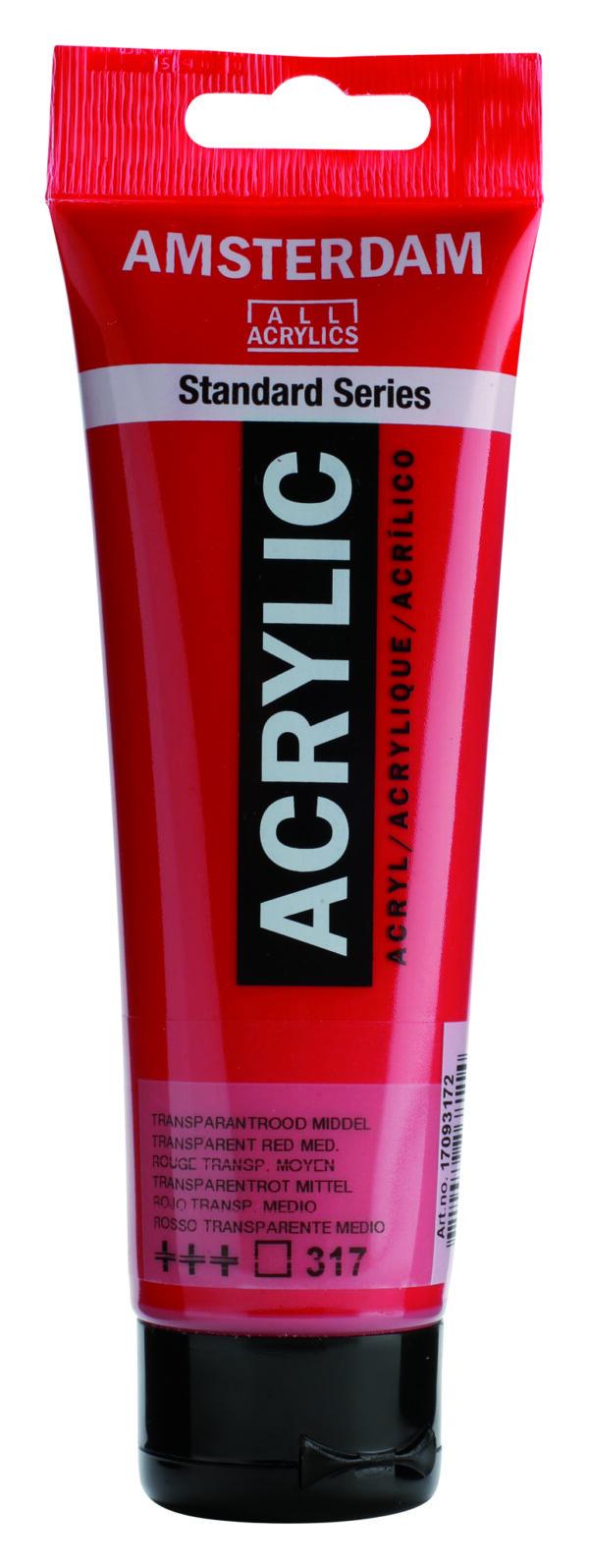 Ams std 317 Transparent red Medium - 120 ml