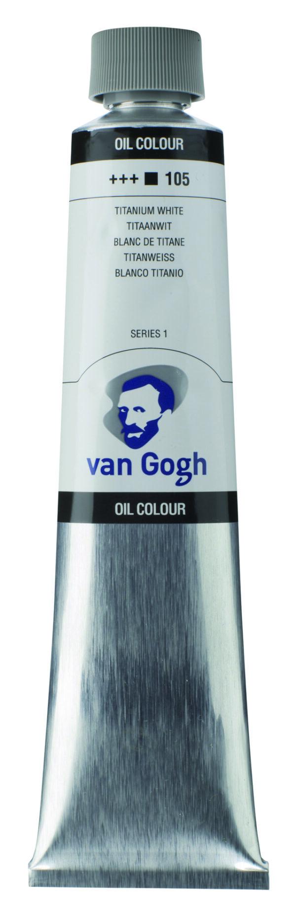 Van Gogh 105 Titanium white (safflor oil) - 200 ml