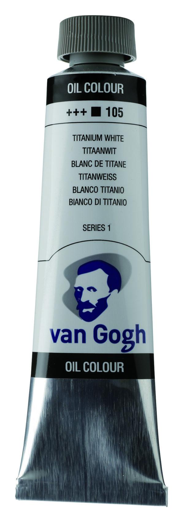 Van Gogh 105 Titanium white (safflor oil) - 40 ml