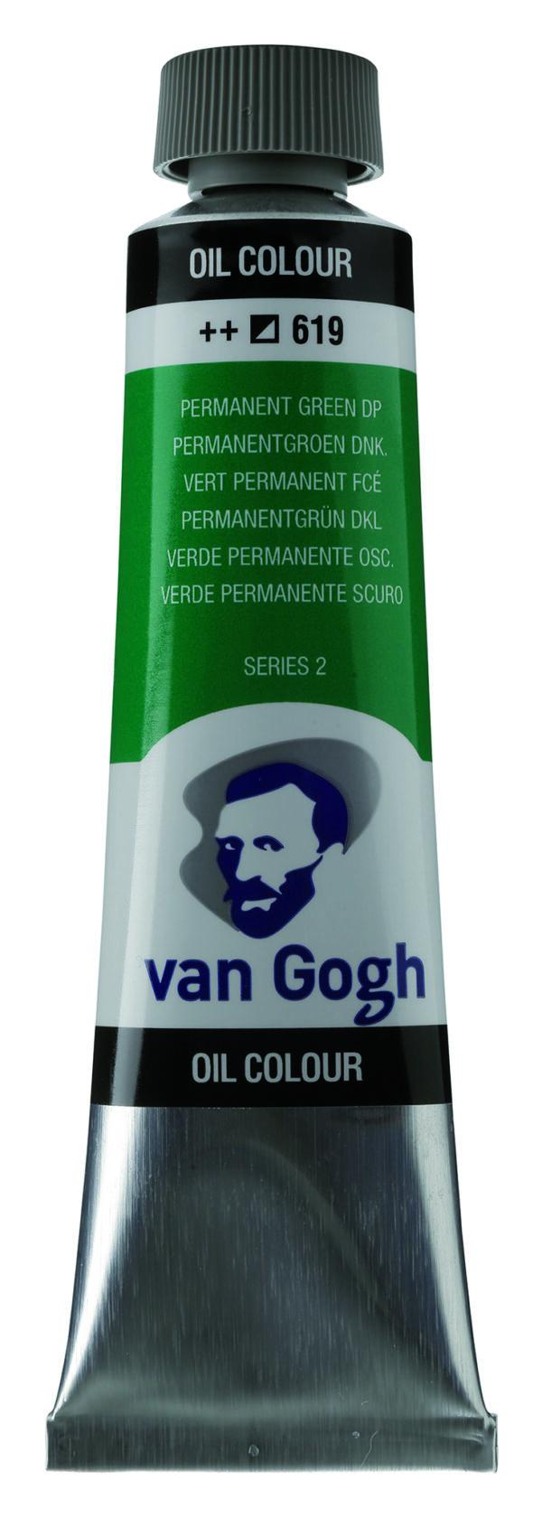 Van Gogh 619 Permanent green Deep - 40 ml