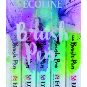 Ecoline Pastel Brush 5 Pen Set