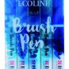 Ecoline Blue Brush 5 Pen Set