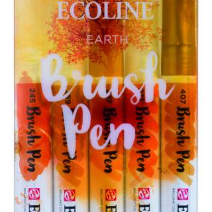 Ecoline Earth Brush 5 Pen Set