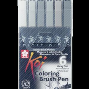Koi Color Brush Set 6