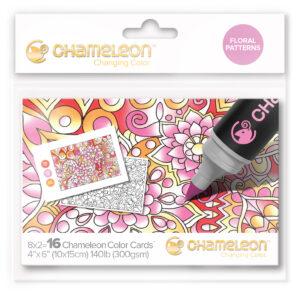 Chameleon Floral Patterns Color Cards