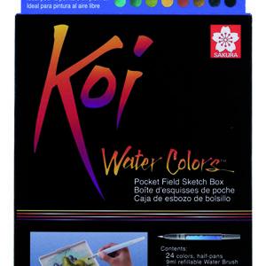 Koi Water Colors Sketch Box 24