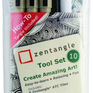 Zentangle Kit Sæt m/10 dele
